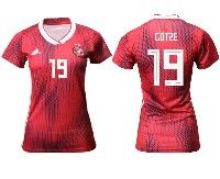 Women 19-20 Soccer Germany Ntaional Team #19 Mario Gotze Ter Stegen Adidas Red Away Short Sleeve Jersey