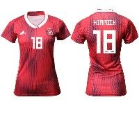 Women 19-20 Soccer Germany Ntaional Team #18 Joshua Kimmich Adidas Red Away Short Sleeve Jersey