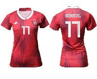 Women 19-20 Soccer Germany Ntaional Team #17 Jerome Boateng Adidas Red Away Short Sleeve Jersey