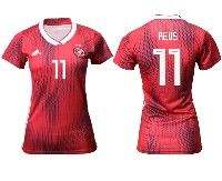 Women 19-20 Soccer Germany Ntaional Team #11 Marco Reus Adidas Red Away Short Sleeve Jersey
