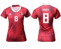 Women 19-20 Soccer Germany Ntaional Team #8 Toni Kroos Adidas Red Away Short Sleeve Jersey