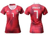 Women 19-20 Soccer Germany Ntaional Team #7 Julian Draxler Adidas Red Away Short Sleeve Jersey