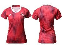 Women 19-20 Soccer Germany Ntaional Team Blank Adidas Red Away Short Sleeve Jersey