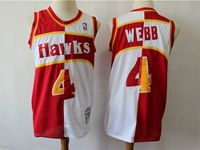 Mens Nba Atlanta Hawks #4 Webb Red And White Mitchell≠ss 1986-87 Hardwood Classics Swingman Jersey