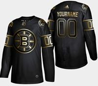Mens Nhl Boston Bruins 2019 Champion Black Golden Current Player Adidas Jersey