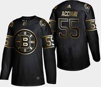 Mens Nhl Boston Bruins #55 Acciari 2019 Champion Black Golden Adidas Jersey