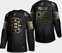 Mens Nhl Boston Bruins #86 Miller 2019 Champion Black Golden Adidas Jersey