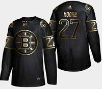 Mens Nhl Boston Bruins #27 Moore 2019 Champion Black Golden Adidas Jersey