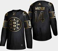 Mens Nhl Boston Bruins #14 Wagner 2019 Champion Black Golden Adidas Jersey