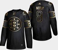 Mens Nhl Boston Bruins #8 Neely 2019 Champion Black Golden Adidas Jersey