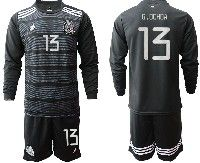 Mens 19-20 Soccer Mexico National Team #13 G.ochoa Black Home Long Sleeve Suit Jersey