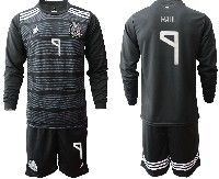 Mens 19-20 Soccer Mexico National Team #9 Raul Black Home Long Sleeve Suit Jersey