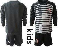 Youth Soccer 19-20 Mexico National Team Custom Made Stripe Black Goalkeeper Long Sleeve Suit Jersey