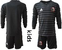 Youth Soccer 19-20 Mexico National Team Custom Made Black Goalkeeper Long Sleeve Suit Jersey