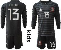 Youth Soccer 19-20 Mexico National Team #13 Guillermo Ochoa Black Goalkeeper Long Sleeve Suit Jersey