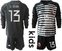 Youth Soccer 19-20 Mexico National Team #13 Guillermo Ochoa Stripe Black Goalkeeper Long Sleeve Suit Jersey
