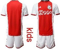 Mens 19-20 Soccer Afc Ajax Club Custom Made Red Home Short Sleeve Suit Jersey