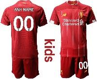 Youth 19-20 Soccer Liverpool Club Custom Made Red Home Short Sleeve Suit Jersey