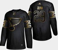 Mens Adidas Nhl St.louis Blues #29 Vince Dunn 2019 Champion Black Gold Jersey