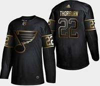 Mens Adidas Nhl St.louis Blues #22 Thorburn 2019 Champion Black Gold Jersey