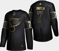 Mens Adidas Nhl St.louis Blues #7 Patrick Maroon 2019 Champion Black Gold Jersey