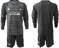 Youth 19-20 Soccer Atlanta United Club Custom Made Stripe Black Long Sleeve Suit Jersey