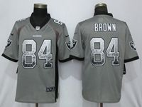 Mens Nfl Oakland Raiders #84 Antonio Brown Gray Vapor Untouchable Drift Fashion Elite Jersey