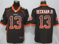 Mens Nfl Cleveland Browns #13 Odell Beckham Jr Brown Drift Fashion Vapor Untouchable Elite Jersey