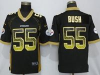 Mens Nfl Pittsburgh Steelers #55 Devin Bush Black Drift Fashion Vapor Untouchable Elite Jersey