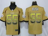 Mens Nfl Pittsburgh Steelers #55 Devin Bush Gold Drift Fashion Vapor Untouchable Elite Jersey