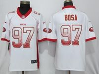 Mens Nfl San Francisco 49ers #97 Nick Bosa White Drift Fashion Vapor Untouchable Elite Jersey