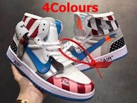 Mens And Women Off White For Nike Air Jordan 1 Aj1 Oregon Usa Basketball Shoes 4 Colours