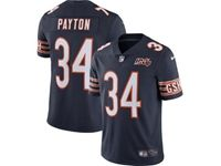 Mens Nfl Chicago Bears #34 Walter Payton Navy Blue 100th Season Retired Nike Vapor Untouchable Limited Jersey