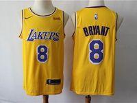 Mens 2019 New Nba Los Angeles Lakers #8 Kobe Bryant Yellow Nike Swingman Jersey
