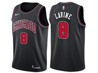 Mens Nba Chicago Bulls #8 Zach Lavine Bulls Black Nike Swingman Statement Jersey