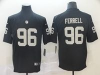 Mens Nfl Oakland Raiders #96 Clelin Ferrell Black Vapor Untouchable Limited Jersey