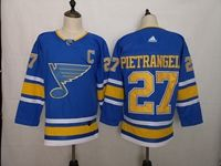 Mens Nhl St.louis Blues #27 Alex Pietrangelo (c) Light Blue Adidas Jersey