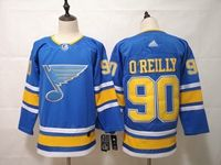Mens Nhl St.louis Blues #90 Ryan O'reilly Light Blue Adidas Jersey