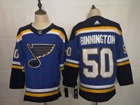 Mens Nhl St.louis Blues #50 Jordan Binnington Blue Adidas Jersey