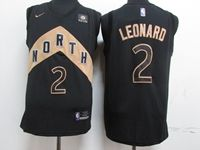Mens Nba Toronto Raptors #2 Kawhi Leonard Black City Edition Player Jersey