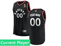 Mens Women Youth 2019 Nba Finals Champions Toronto Raptors Current Player Black Statement Edition Jersey