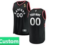 Mens Women Youth 2019 Nba Finals Champions Toronto Raptors Custom Made Black Statement Edition Jersey