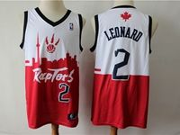 Mens 2019 New Toronto Raptors #2 Kawhi Leonard Red & White City Edition Dna Jersey