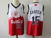 Mens 2019 New Toronto Raptors #15 Vince Carter Red & White City Edition Dna Jersey
