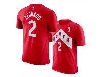 Mens Nba Toronto Raptors Nike Playoff Award Edition #2 Kawhi Leonard 2019 Nba Finals Champions Red T-shirt