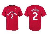 Mens Nba Toronto Raptors Nike Red #2 Kawhi Leonard 2019 Nba Finals Champions T-shirt