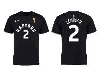 Mens Nba Toronto Raptors Nike Black #2 Kawhi Leonard 2019 Nba Finals Champions T-shirt