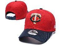 Mens Mlb Minnesota Twins  Adjustable Hats New Era Red