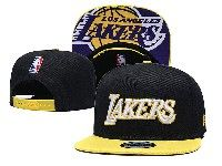 Mens Nba Los Angeles Lakers Snapback Adjustable Hats New Era Black With Yellow