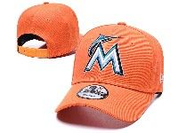 Mens Mlb Miami Marlins Big M Adjustable Hats New Era Orange